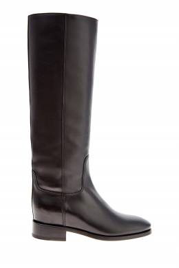 Черные сапоги на низком каблуке Santoni 1165162399