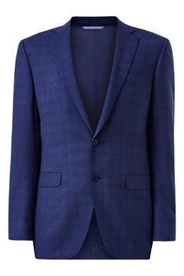 Синий костюм в клетку Canali 1793162269