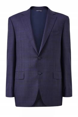 Сине-фиолетовый костюм из шерсти Canali 1793162267