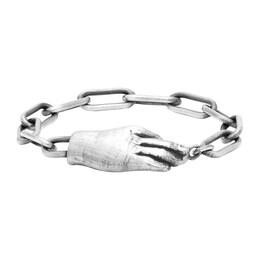Ann Demeulemeester Silver Hand Bracelet 192378F02000102GB