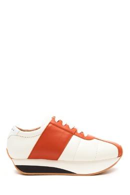 Бело-оранжевые кроссовки Big Foot Marni 294163659