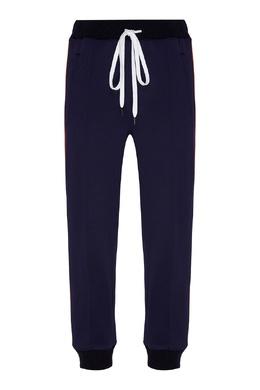 Синие брюки с контрастной отделкой Marni 294163655