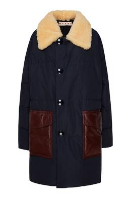 Удлиненная куртка с воротником из овчины Marni 294163628