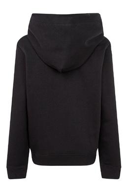 Черное худи с надписью и логотипами Calvin Klein Kids 2815163913
