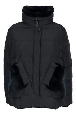 Черная куртка с коротким мехом Diego M 2928164631