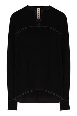 Черная блуза из вискозы Marni 294163633