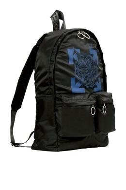 Черный рюкзак с синим логотипом Off-White 2202164495