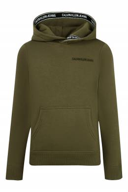 Темно-зеленая толстовка с карманом-кенгуру Calvin Klein Kids 2815163917