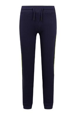 Темно-синие спортивные брюки с лампасами Calvin Klein Kids 2815164198