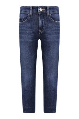 Прямые синие джинсы с декоративной строчкой Calvin Klein Kids 2815164086