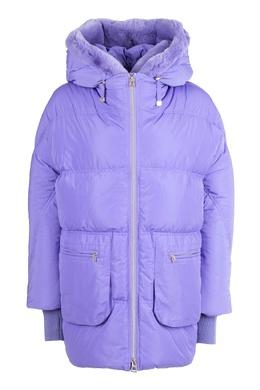 Фиолетовая куртка с меховой отделкой Diego M 2928164611