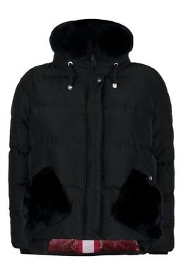 Черная куртка с мехом Diego M 2928164621