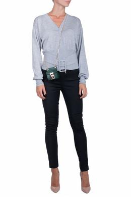 Серая блуза с зауженной талией и ремнем Patrizia Pepe 1748164406