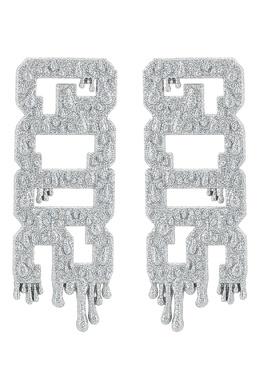 Серебристые серьги с глиттером GCDS 2981164972