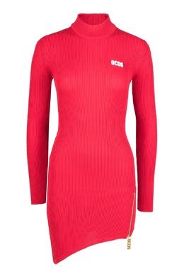 Красное платье с асимметричным низом Gcds 2981165024