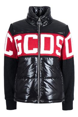 Черная стеганая куртка с логотипом Gcds 2981165030