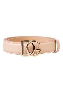 Бледно-розовый ремень с пряжкой-логотипом Dolce&Gabbana 599162572