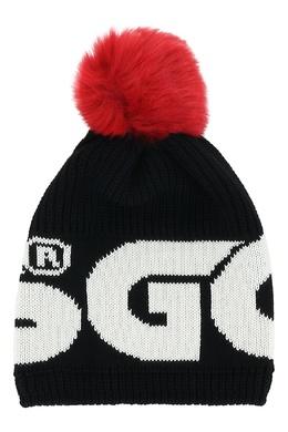 Черная шапка с помпоном Gcds 2981165002