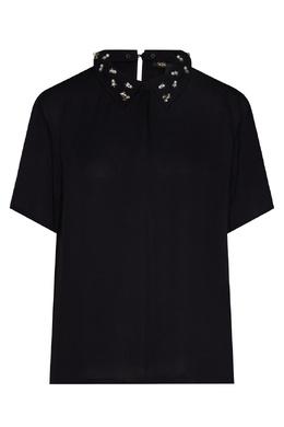 Черная блуза с воротником Maje 888164535