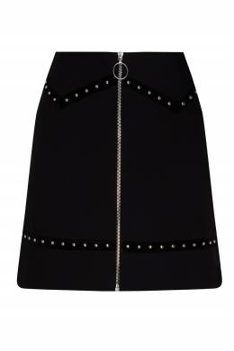 Черная мини-юбка с декором Maje 888164314