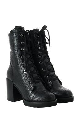 Черные блестящие ботинки на шнуровке Baldan 3060165067