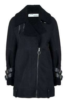 Черная дубленка со скошенной молнией Off-White 2202165091