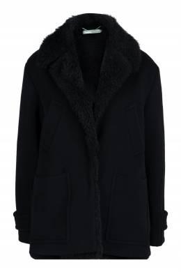 Черное пальто с отделкой Off-White 2202165090