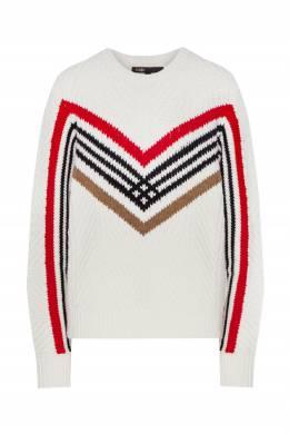 Полушерстяной пуловер с узорами Maje 888164543