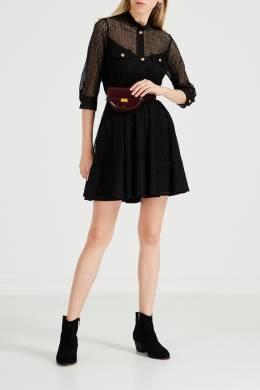 Черное кружевное платье Maje 888164541