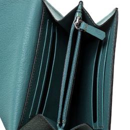 Cartier Sky Blue Leather C de Cartier Compact Wallet