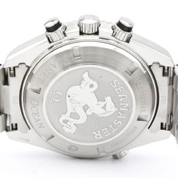 Omega Black Stainless Steel Seamaster Planet Ocean 2210.50 Men's Wristwatch 45MM 242237
