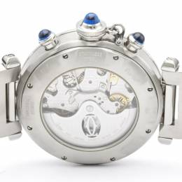 Cartier Silver Stainless Steel Pasha W31030H3 Men's Wristwatch 38 MM 242436