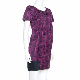 Marc By Marc Jacobs Magenta Printed Cotton Blend Canvas Dress S 241782