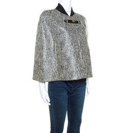 Paul ka Monochrome Tweed Glossy Finish Cape M Paule Ka 241792