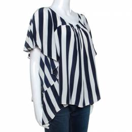 Gianfranco Ferre Bicolor Striped Silk Blouse M 243048