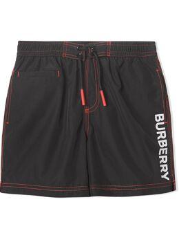 Burberry Kids плавки-шорты с логотипом и шнурком 8009127