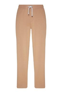 Бежевые брюки с эластичным поясом Brunello Cucinelli 1675125396