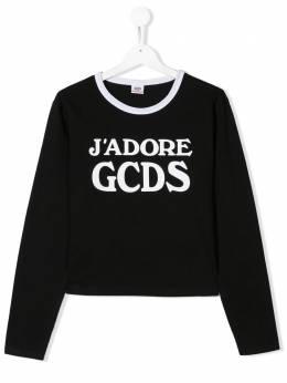 GCDS Kids топ J'Adore с логотипом 020523