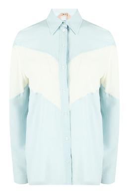 Голубая блузка с желтой вставкой No. 21 35165317