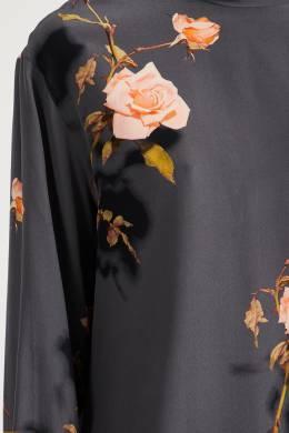 Серое платье-рубашка с узорами Dries Van Noten 1525163951