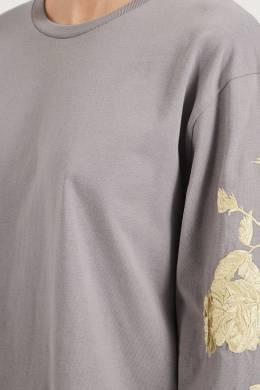 Серый лонгслив с узором Dries Van Noten 1525163957