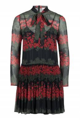 Черное платье-мини с воротником-аскот Red Valentino 986165423