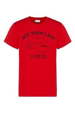 Красная футболка с принтом Red Valentino 986165413