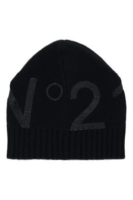 Черная шапка с блестящим логотипом No. 21 35165385