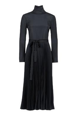 Черное платье-миди с плиссировкой Red Valentino 986165404