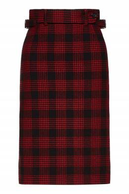 Черная юбка-футляр в клетку Red Valentino 986165458
