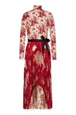 Комбинированное платье-макси с узорами Red Valentino 986165405
