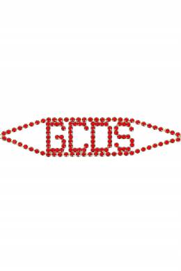 Широкое колье-чокер с красными кристаллами GCDS 2981165462