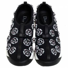 Dior Black Mesh Fusion Embellished Sneakers Size 38 243304