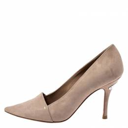 Louis Vuitton Beige Suede Pointed Toe Pumps Size 36